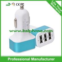 Buy cheap universal usb car charger 3 usb port car charger usb hub from wholesalers