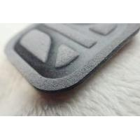 Buy cheap Gray Soft Environmentally Friendly Microfiber Label , Costom High Frequency Logo For Clothing from wholesalers