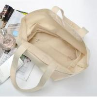 Buy cheap Beige Color Canvas Shopping Bag , High Durability Plain Canvas Gift Bags from wholesalers
