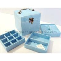Buy cheap Blue Velvet Jewelry Box with Drawer from wholesalers