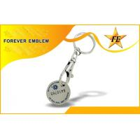 Buy cheap Iron Or Aluminum Supermarket Trolley Coin With Keyring And Custom Logo from wholesalers