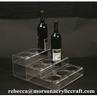 Buy cheap Customized Tabletop Fashionable Clear Acrylic Wine Bottle Display Holder from wholesalers