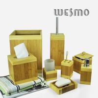 Buy cheap 8 Piece Smooth and Anti Water Bamboo Bathroom Sets from wholesalers
