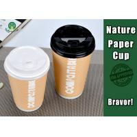Buy cheap PLA Coated 12 Ounce Paper Cups , Disposable Double Wall Paper Coffee Cups from wholesalers