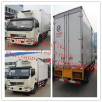 Buy cheap 7tons 4*2 6wheels Dongfeng 120hp freezer van truck for sale, best price dongfeng LHD 5-7tons cold room truck for sale from wholesalers