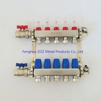 Buy cheap Stainless Steel 6 Port Underfloor Heating Manifold with Valves from wholesalers