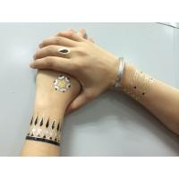 Buy cheap High Quality Sexy Flash Gold Metallic Tattoo Sticker product