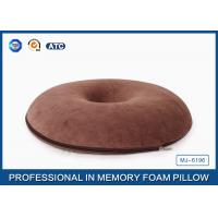 Buy cheap Coccyx Orthopedic Car Seat Cushion Memory Foam Doughnut Cushion With Bamboo Fabric from wholesalers