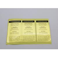 Buy cheap Die Cut Product Label Stickers Custom Color Scratchproof For Safety Warning from wholesalers