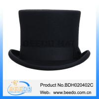 Buy cheap UK classic pure wool felt flat top hat from wholesalers