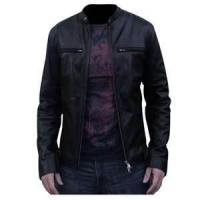 Buy cheap S M L XL custom Fashion Cowhide mens sheep skin leather jacket coat product