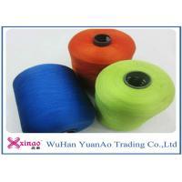 Spun High Tenacity Polyester Yarn , Colorful High Strength  Spun Yarn for Sewing
