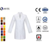 Buy cheap Long Sleeve Disposable Medical Workwear Notched Collar Three Pockets product
