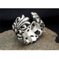 Buy cheap Adjustable Bohemian Custom Engraved Stainless Steel Rings With Flower Shaped from wholesalers