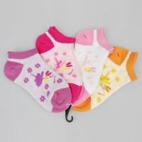 Buy cheap Comfy Cotton + Spandex + Nylon Pink / Orange / Purple Novelty Little Girls Ankle Socks from wholesalers