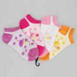 Buy cheap Comfy Cotton + Spandex + Nylon Pink / Orange / Purple Novelty Little Girls Ankle Socks from wholesalers