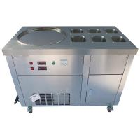 Buy cheap Fried Ice Cream Machine Rolled Up Ice Cream Equipment CE Certificated product