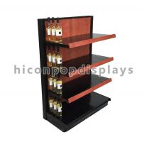 Buy cheap Liquor Store Gondola Shelving Units 36 Inch Wide End Cap Wooden Shelving Display Stand from wholesalers