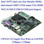 Buy cheap Mini Itx industrial motherboard Intel 1037U / 10COM/ Dual 24 bits LVDS/POS Machine industrial Mini ITX-M847_A10 from wholesalers