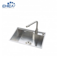 Buy cheap Handmade House Single Bowl Kitchen Sinks With Faucet Stainless Steel Kitchen Sinks With Soap Dispenser from wholesalers