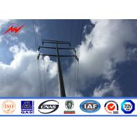 Buy cheap Q345 Material Outside Galvanized Steel Power Pole 1.0 Safety Factor 8 M 500Dan from wholesalers