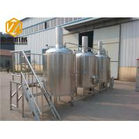 Buy cheap Steam Heated Beer Distillery Equipment 1000L Brewhouse Rock Wool / PU Foam Insulation from wholesalers