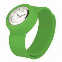 Buy cheap 2012 New Silicone Slap Watch, Various Colors are Available, CE Marks, RoHS Directive-compliant from wholesalers