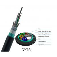 Buy cheap Aerial Duct Corrugated Single Mode Armored Fiber Cable , G652D 144 Core Fiber Optic Cable from wholesalers