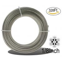 Buy cheap Stainless Steel Aircraft Cable 7 X 7 Rope For Railing / Decking / Diy Balustrade from wholesalers