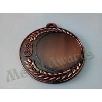 Buy cheap Circle Custom Engraved Medals Blank Type Front Sandblasted In Recesssed from wholesalers