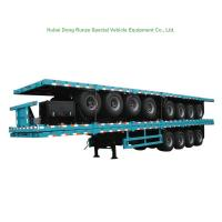 Buy cheap 4 Tri Axle Container Chassis Semi Trailer for Container 60 Ton from wholesalers
