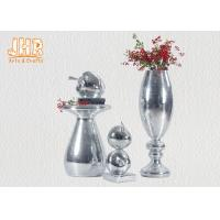 China Small Mosaic Glass Fiberglass Apple With Square Base Sculpture Decoration on sale