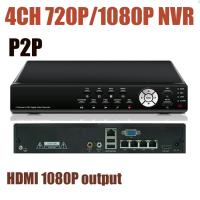 Buy cheap CCTV NVR 4Channels 720P 1080P Resolution 4CH Network Video Recorder P2P, PTZ, HDMI 1080P output Onvif NVR from wholesalers