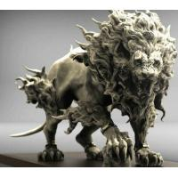 Buy cheap Yard Ornaments Fiberglass Animal Sculptures Abstract Roaring Lion Sculpture from wholesalers