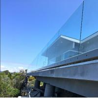 Buy cheap U channel slot tube connector laminated glass balustrade u channel aluminum railing for balcony from wholesalers