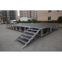 Buy cheap performance stage size outdoor stage ideas mobile stage truck aluminum portable stage with guardrails and stairs from wholesalers