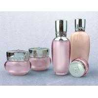 Buy cheap empty 30ml 50ml 100ml Fancy gold Palace series plastic acrylic cosmetic lotion bottle from wholesalers