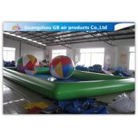 Buy cheap Green Inflatable Swimming Pool Toys , Inflatable Kiddie Pools With Colorful Balls from wholesalers