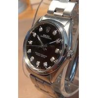 Buy cheap ROLEX OYSTER PERPETUAL BLACK DIAMOND DIAL STAINLESS MENS WATCH & ROLEX BAND 1968 from wholesalers