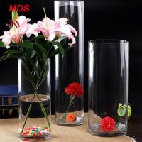 Buy cheap Glassware wholesale bohemia crystal cylinder clear glass flower vase from wholesalers