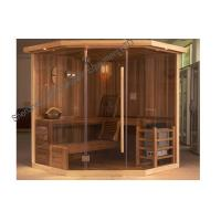 Buy cheap Solid wood sauna cabins , electric traditional sauna room for dry sauna product