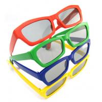 Buy cheap Custom cute green color AC lens Kids Polarized 3D Plastic Glasses eyewears with logo from wholesalers