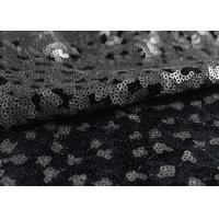 Buy cheap Golden Black Sequin Lace Fabric With 3D Embroidery Fabric For Party Gown Dresses from wholesalers
