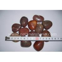 Buy cheap Dark red pebble stone from wholesalers