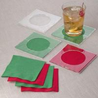 Buy cheap 10 x 10cm Square Acrylic Napkin Coaster from wholesalers