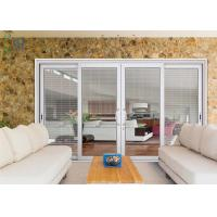 Aluminium Powder Coated Doors With Shutter , Sound Insulation Aluminum Glass Doors