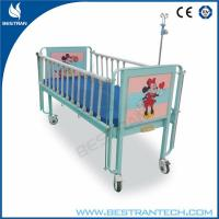 Buy cheap Steel Frame Medical Hospital Beds / Manual Paediatric Bed , 2 - Part Bedboard from wholesalers