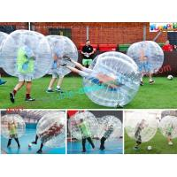 Buy cheap Transparent Body Zorb Ball / Bubble Football Ball / Bubble Bumper Ball With TPU from wholesalers
