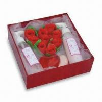 Buy cheap Bath Gift Set with Glycerine Soap, Bath Bomb, Gel and Lotion, Good for Christmas from wholesalers