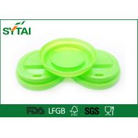 Buy cheap Customized Plastic Coffee Lids For Tea / Beveage Paper Cup , Party Cup Lids FSC LFGB Approval from wholesalers
